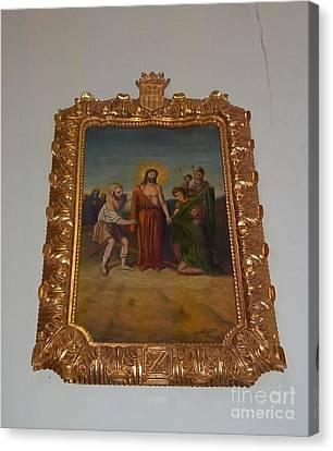La Merced Via Crucis 10 Canvas Print by Vladimir Berrio Lemm