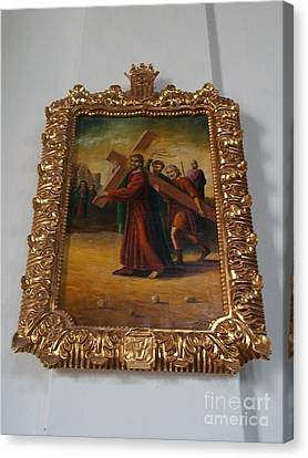 La Merced Via Crucis 5 Canvas Print by Vladimir Berrio Lemm