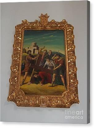 La Merced Via Crucis 7 Canvas Print by Vladimir Berrio Lemm