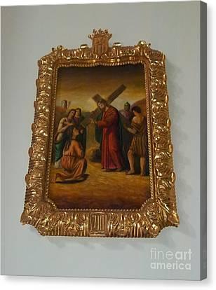 La Merced Via Crucis 8 Canvas Print by Vladimir Berrio Lemm
