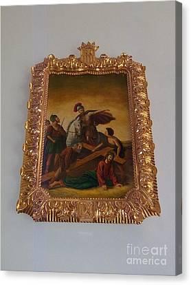 La Merced Via Crucis 9 Canvas Print by Vladimir Berrio Lemm