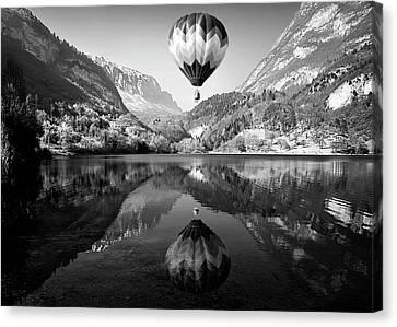 Hot Air Balloon Canvas Print - La Mongolfiera by Andrea Auf Dem