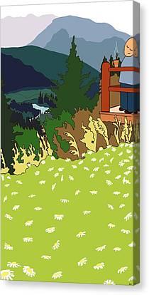 La Mountanha Canvas Print by Michelle Berger