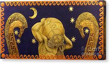 La Nascita Di Vipsul Canvas Print by Anna Maria Guarnieri