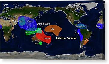La Nina Summer Effects Canvas Print by Noaa