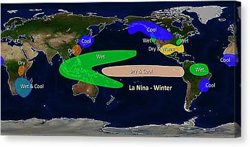 La Nina Winter Effects Canvas Print by Noaa