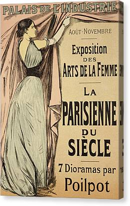La Parisienne Du Siecle Canvas Print by Jean Louis Forain