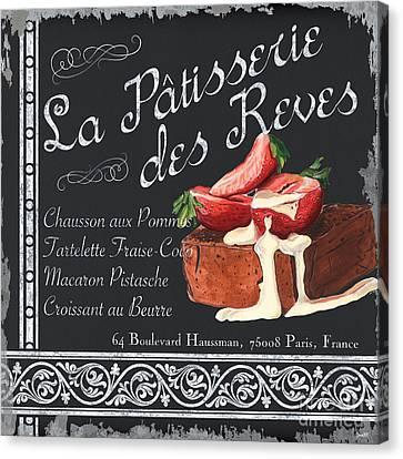 Patisserie Canvas Print - La Patisserie by Debbie DeWitt