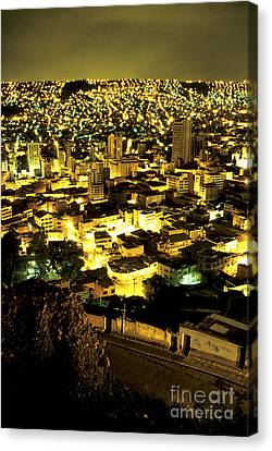 La Paz Cityscape Bolivia Canvas Print by Ryan Fox