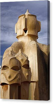 Spanish House Canvas Print - La Pedrera Rooftop by Joan Carroll