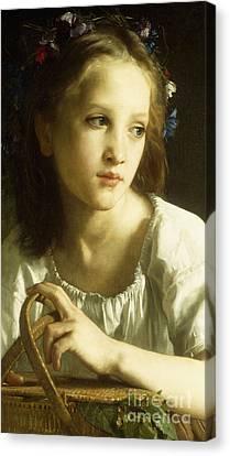 Half-length Canvas Print - La Petite Ophelie by William Adolphe Bouguereau