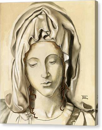 Canvas Print featuring the painting La Pieta 2 by Terry Webb Harshman