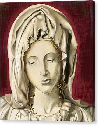 Canvas Print featuring the painting La Pieta 3 by Terry Webb Harshman