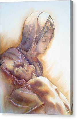 La Pieta By Michelangelo Canvas Print