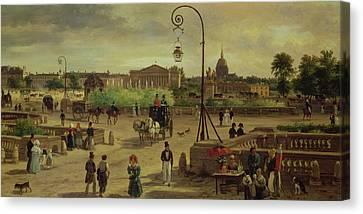 La Place De La Concorde Canvas Print by Giuseppe Canella
