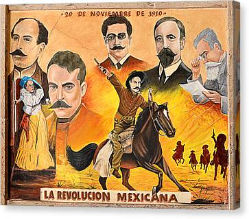 La Revolution Mexicana Canvas Print by Christine Till
