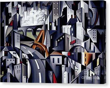 Catherine Canvas Print - La Rive Gauche by Catherine Abel