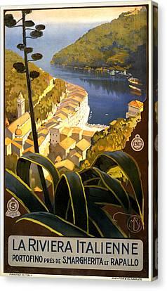 La Riviera Italienne Canvas Print by Georgia Fowler