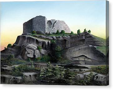 La Rocca De Monte Calvo Canvas Print