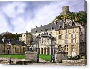 Medieval Entrance Canvas Print - La Roche Guyon Castle by Olivier Le Queinec