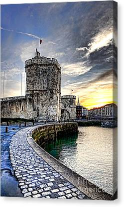 Medieval Entrance Canvas Print - La Rochelle  by Olivier Le Queinec