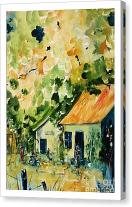 Prussian Blue Canvas Print - La Ruche  by Aline Halle-Gilbert