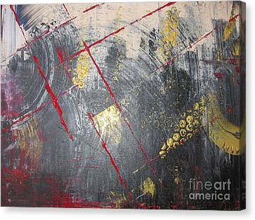 Canvas Print featuring the painting La Ruche by Lucy Matta