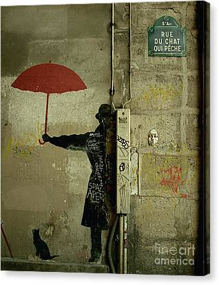 La Rue Du Chat Qui Peche Canvas Print