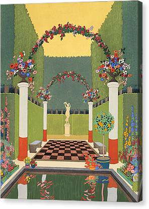 La Salle Verte Canvas Print by Georges Barbier