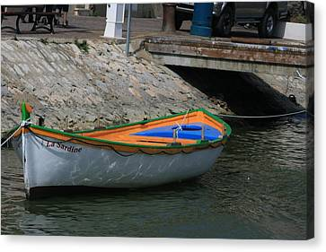Boat   La Sardine  Canvas Print by Phoenix De Vries