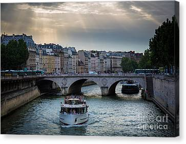 La Seine Canvas Print by Inge Johnsson
