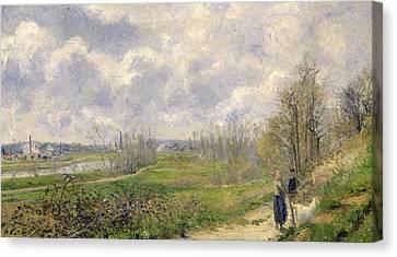 La Sente Du Chou Near Pontoise Canvas Print