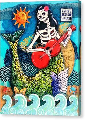 La Sirena Collage Canvas Print