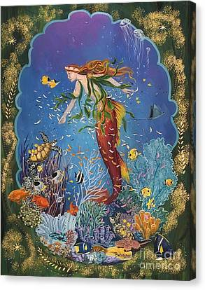 Angel Mermaids Ocean Canvas Print - La Sirena by Sue Betanzos