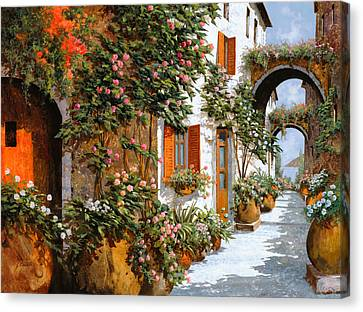 Sicily Canvas Print - La Strada Al Sole by Guido Borelli