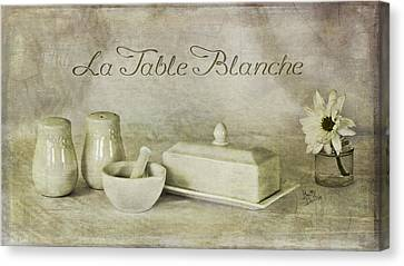 La Table Blanche - The White Table Canvas Print