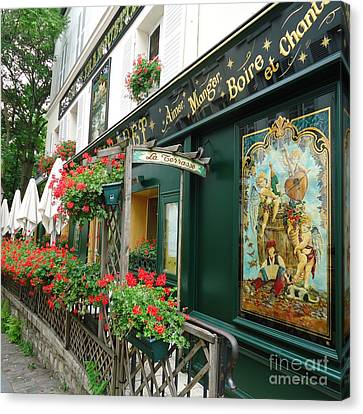 La Terrasse In Montmartre Canvas Print