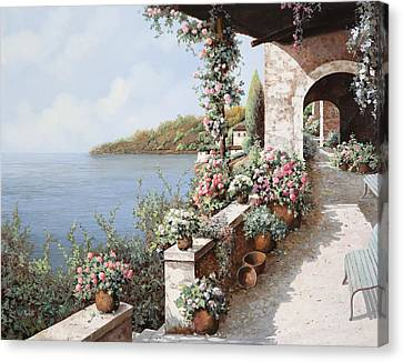 La Terrazza Canvas Print by Guido Borelli