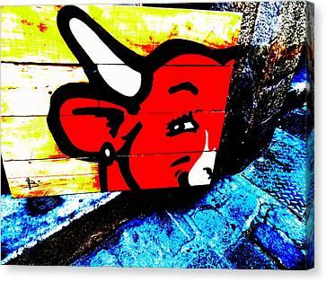 La Vache Qui Rit Art  Canvas Print by Funkpix Photo Hunter