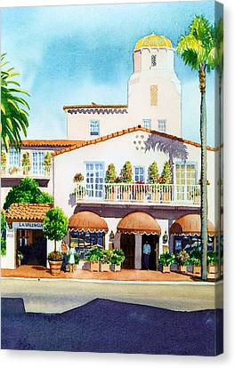 La Valencia Hotel Canvas Print by Mary Helmreich