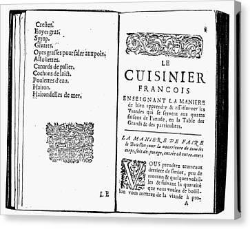 La Varenne Cookbook, 1686 Canvas Print by Granger