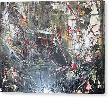 Canvas Print featuring the painting La Vie by Lucy Matta