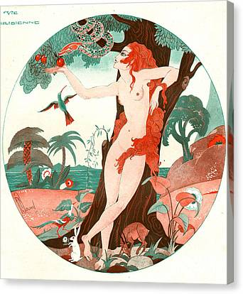 Women Canvas Print - La Vie Parisienne 1920s France Cc Edam by The Advertising Archives