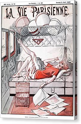 La Vie Parisienne, 1922 Canvas Print by Granger