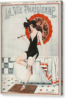 La Vie Parisienne  1923 1920s France Canvas Print by The Advertising Archives