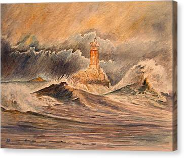 La Vieille Lighthouse Canvas Print by Juan  Bosco
