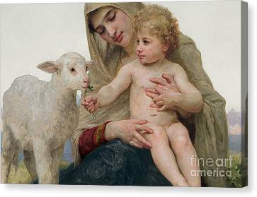 William And Mary Canvas Print - La Vierge A Lagneau by William-Adolphe Bouguereau