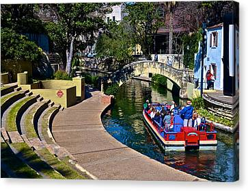 Canvas Print featuring the photograph La Villita Outdoor Theater by Ricardo J Ruiz de Porras