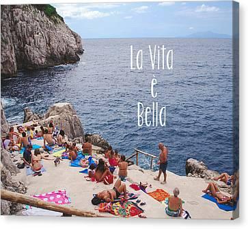 La Vita E Bella Canvas Print by Nastasia Cook