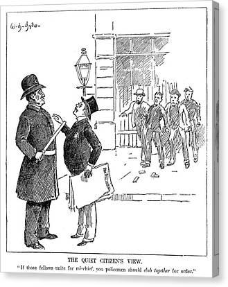 Policeman Canvas Print - Labor Movement Cartoon by Granger